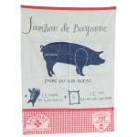 Torchon jambon de Bayonne