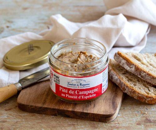 Pâté de campagne au piment d'espelette 180 grammes