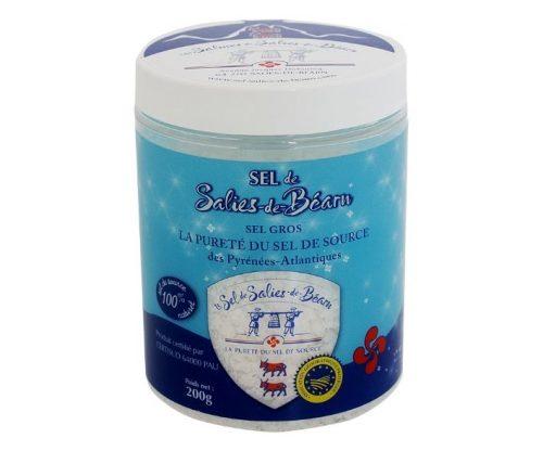 Boite de sel de 200 grammes, sel de Salies-de-Béarn IGP