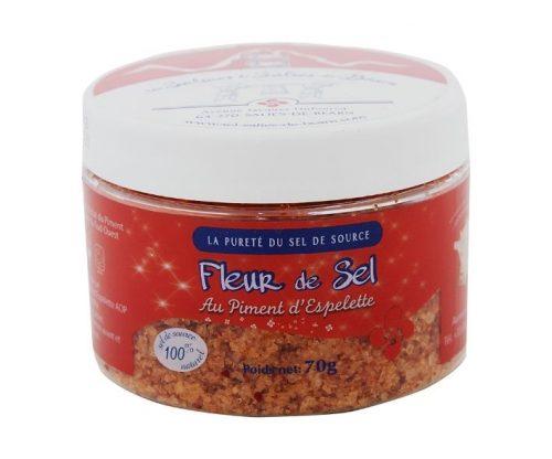 Fleur der sel au piment d'Espelette 70gr