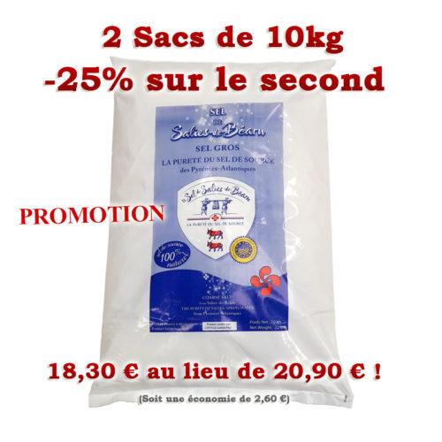 Sacs de Sel de Salies-de-Béarn 10kg