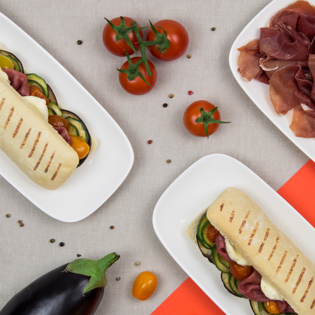 Panini jambon tomate mozzarella la maison du jambon de bayonne - La maison du panini ...