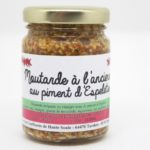 Moutarde à l'ancienne au piment d'Espelette 90 gr